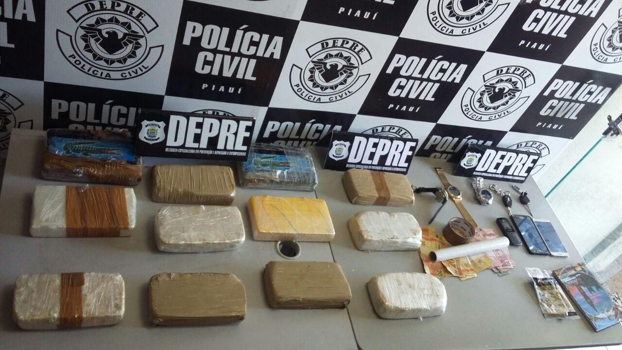 Depre apreende 12 kg de drogas e prende quadrilha em Teresina