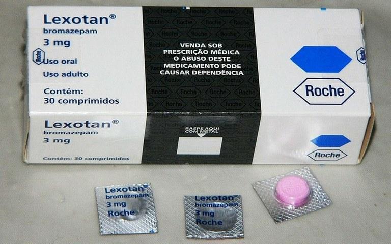 Anvisa suspende venda de lote do medicamento Lexotan