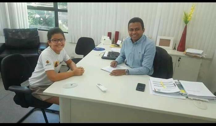 Francisco Costa e a filha Alyria Moraes Costa.