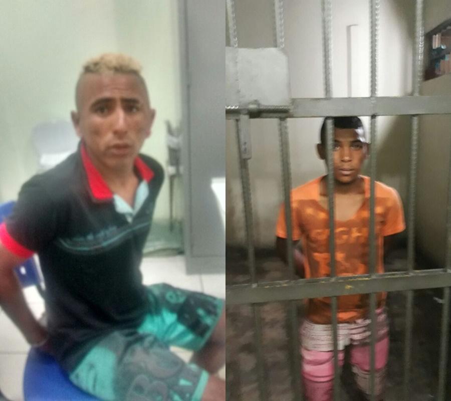 Homens são presos suspeitos de agredirem a própria mãe.