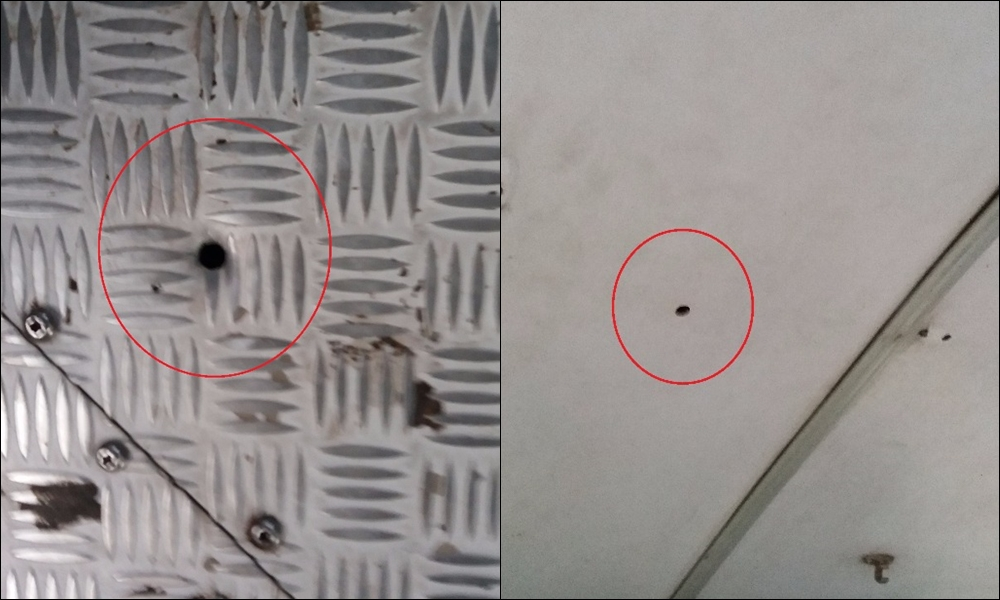 Tiros que atingiram o ônibus da Editur