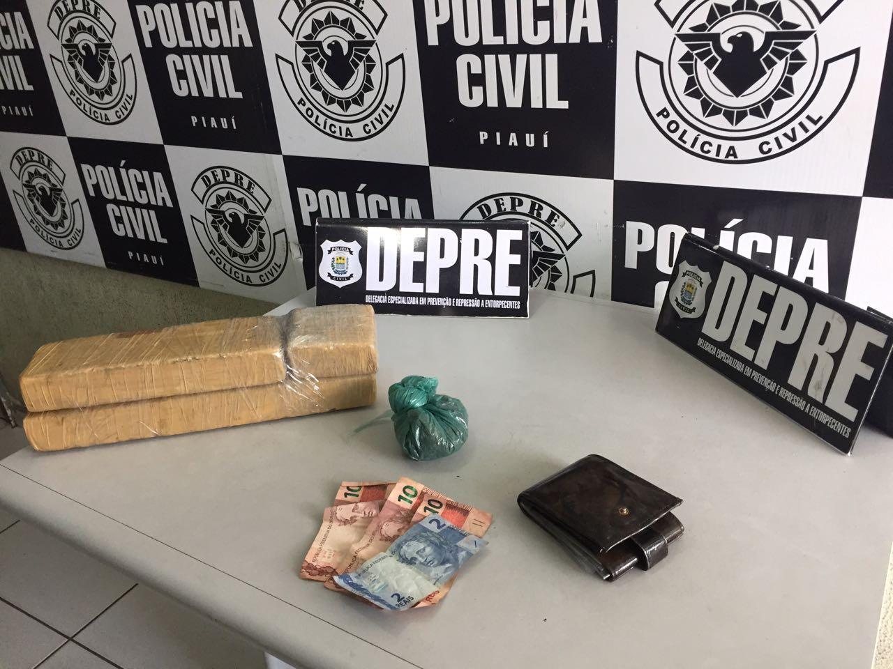 DEPRE prende bandidos e apreende 3 kg de drogas em Teresina