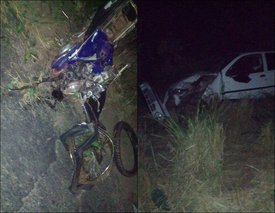 Jovem morre durante acidente de trânsito na Cacimba Velha