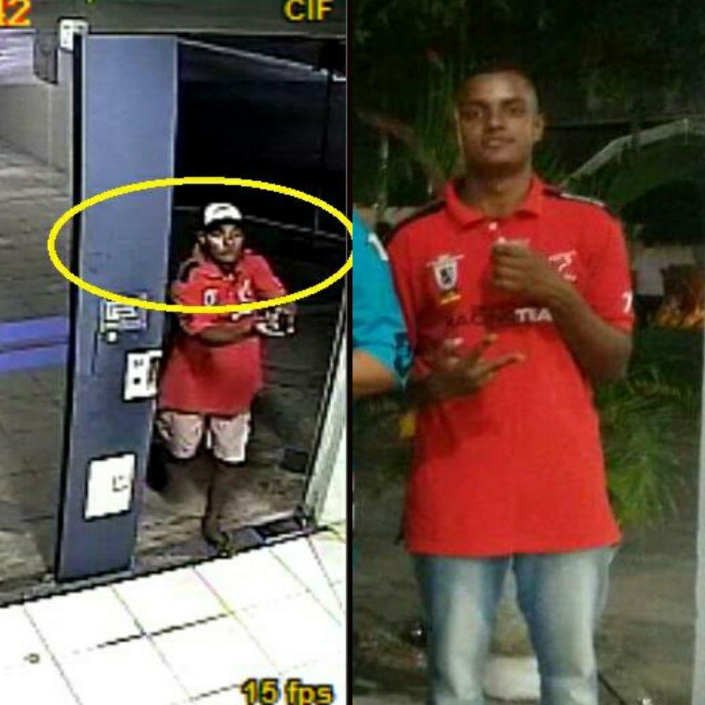 Vídeo mostra homem praticando assalto contra clientes da Caixa em Parnaíba