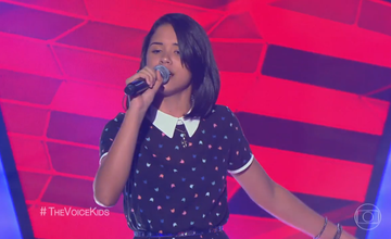 Piauiense Allyne Conrado participa de estreia do The Voice Kids