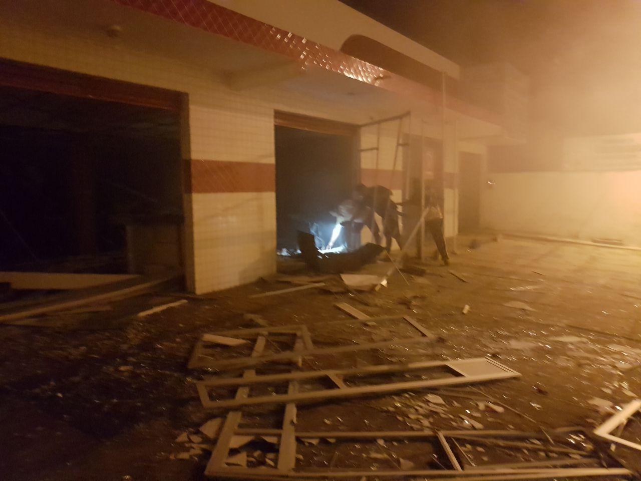 Agência depois da explosão