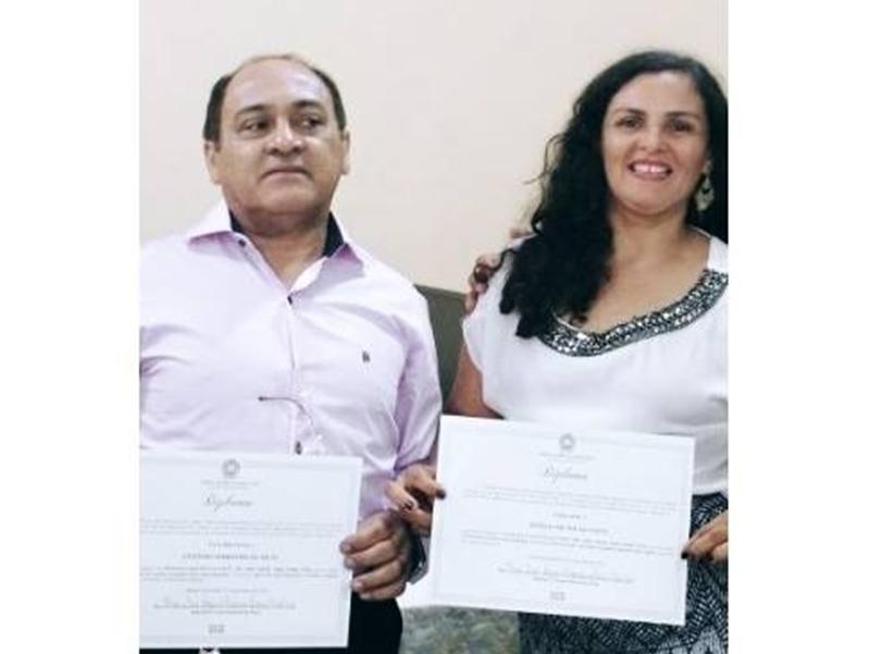 Vice-prefeito e sua esposa