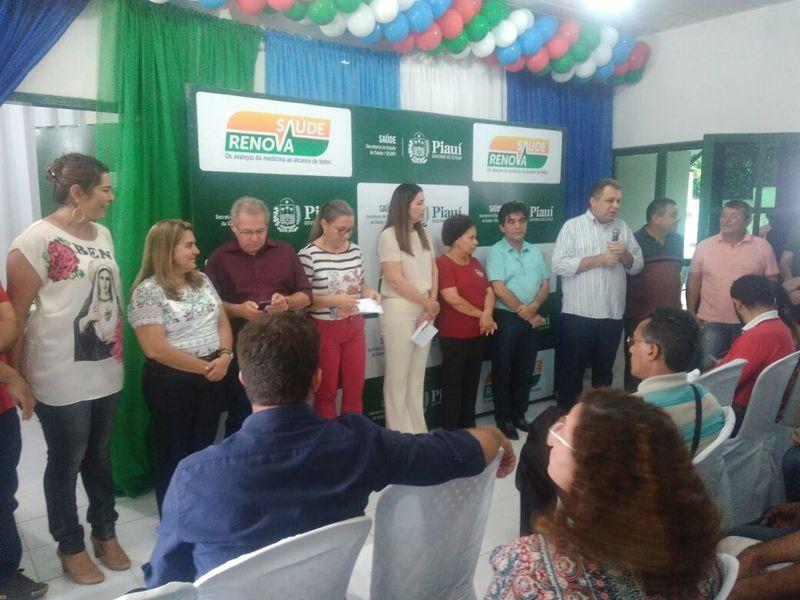 A Vice-Governadora Margarete Menezes e o Secretário de Saúde Florentino Neto