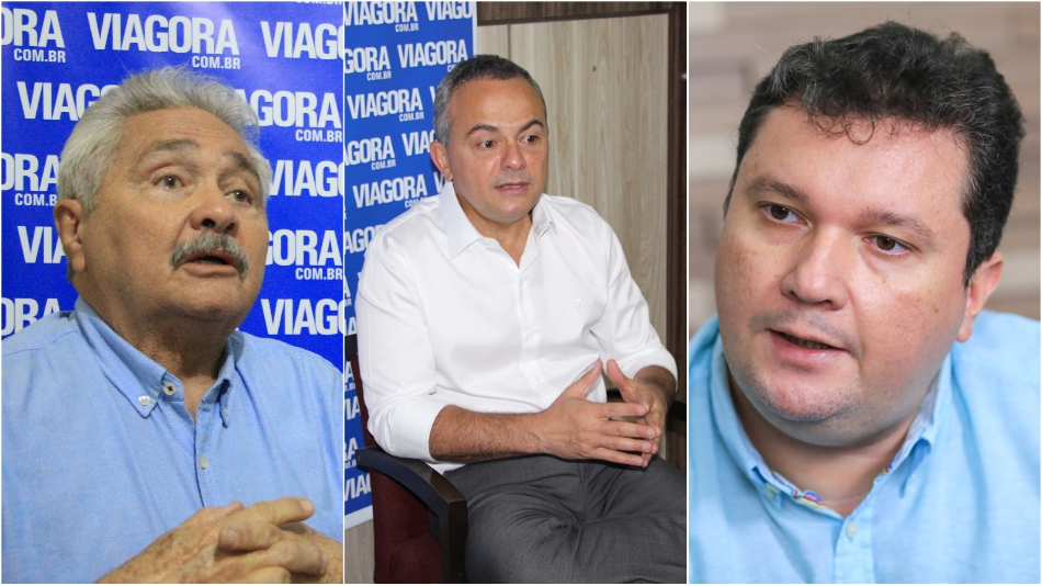 Elmano Férrer, Valter Alencar e Fábio Sérvio.