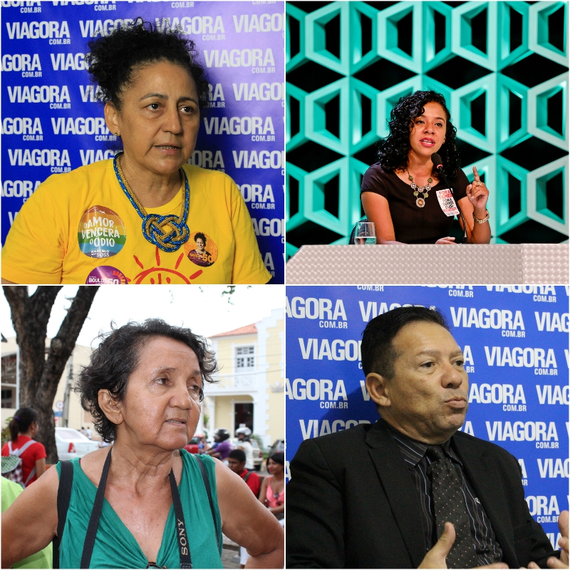Sueli Rodrigues, Luciane Santos, Lourdes Melo e Romualdo Seno.