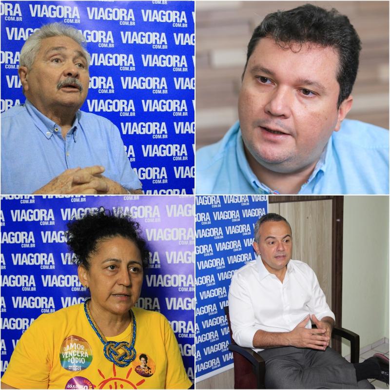Elmano Férrer, Fábio Sérvio, Sueli Rodrigues e Valter Alencar.