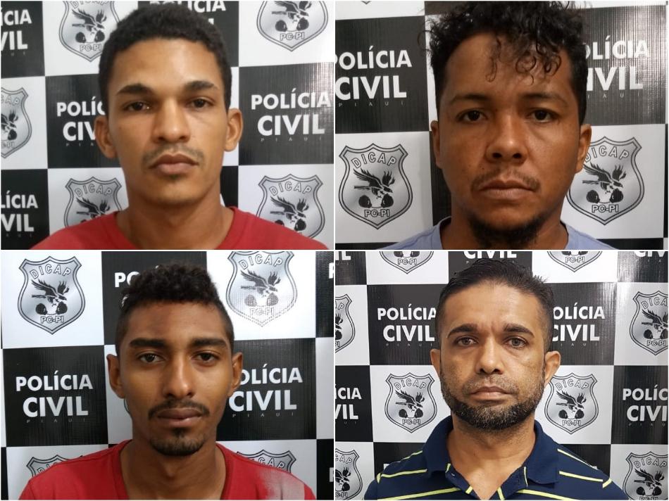 Indivíduos presos na Operação Natalis da Polícia Civil.