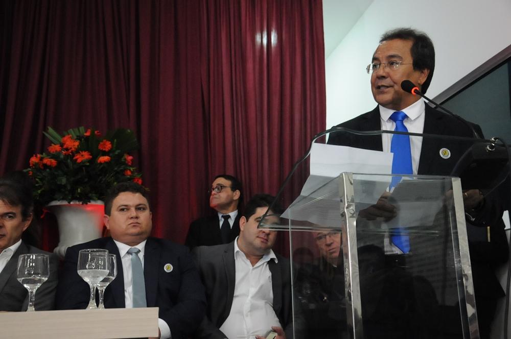 Jonas Moura em discurso de posse na APPM.