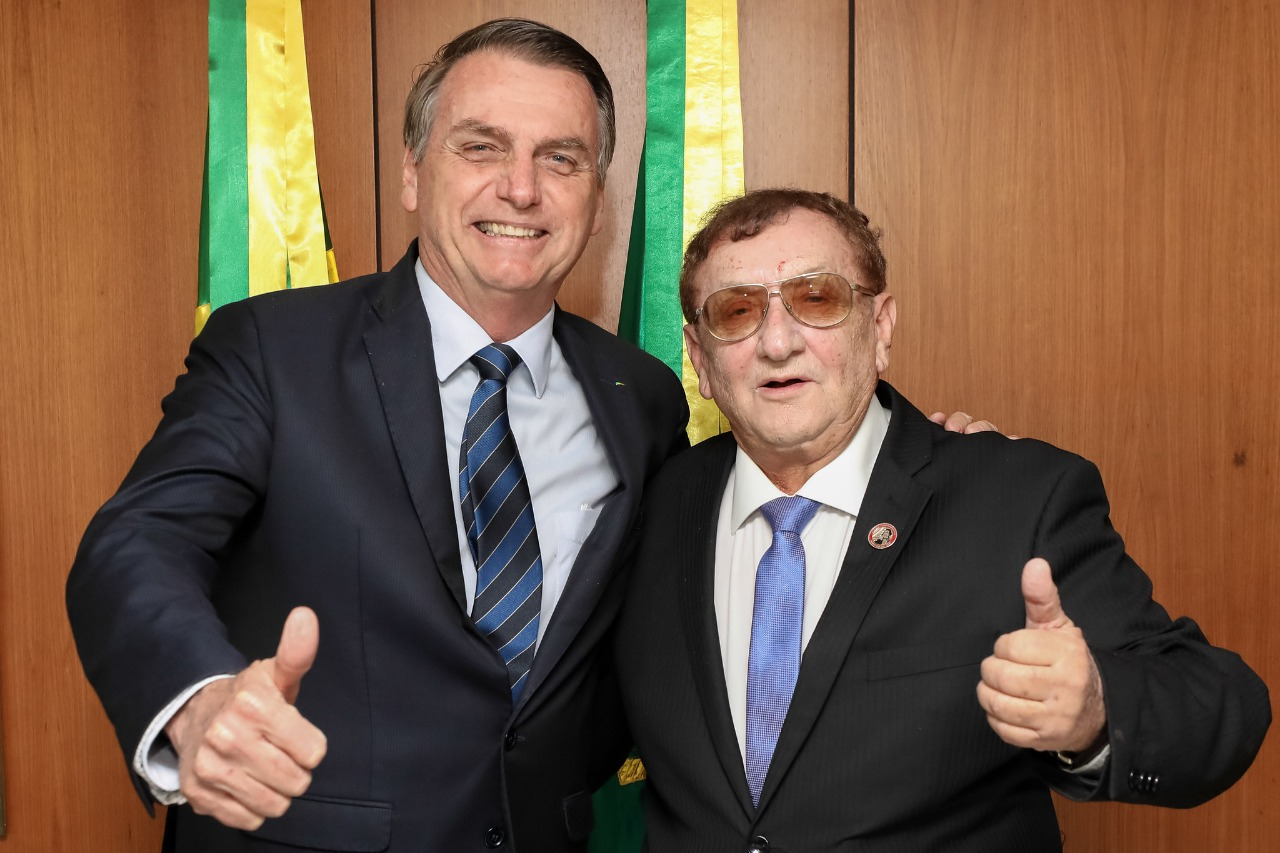 Presidente Bolsonaro e prefeito Mão Santa