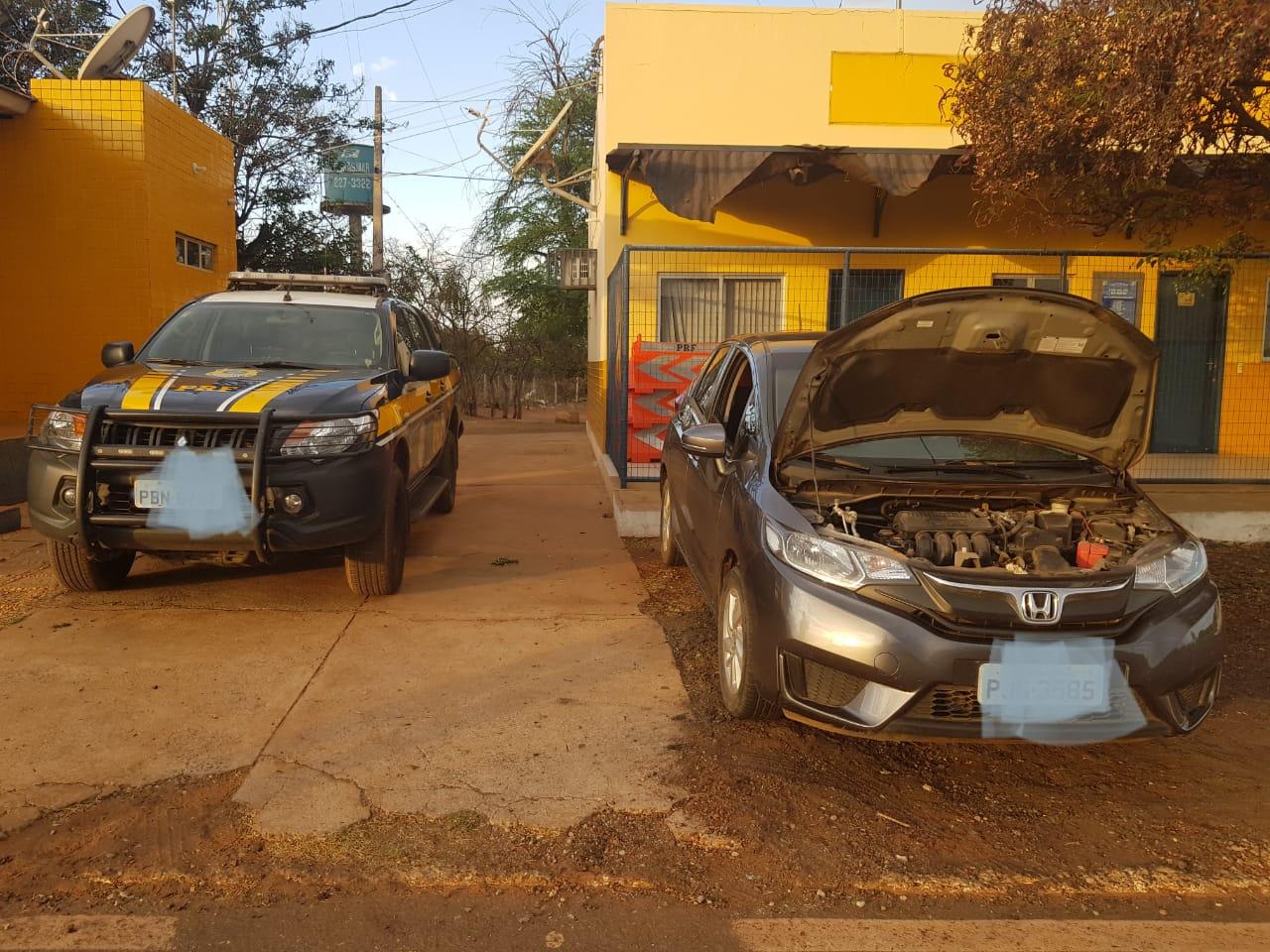Veículo recuperado pela PRF.