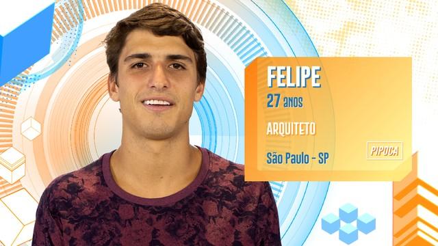 Felipe é arquiteto e está no reality.