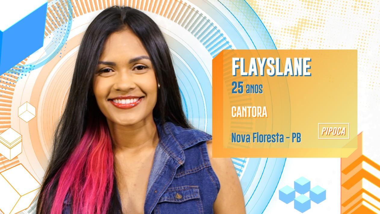 Flayslane, 25 anos, é cantora.