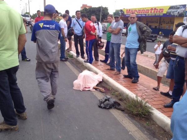 Idoso morre ao atravessar BR - 316 em Teresina(Imagem:Gil Oliveira)