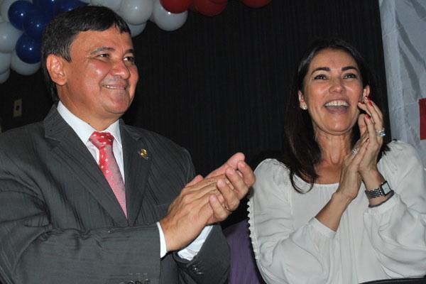 Indicação de Margarete Coelho para vice de Wellington Dias.(Imagem:Reprodução)